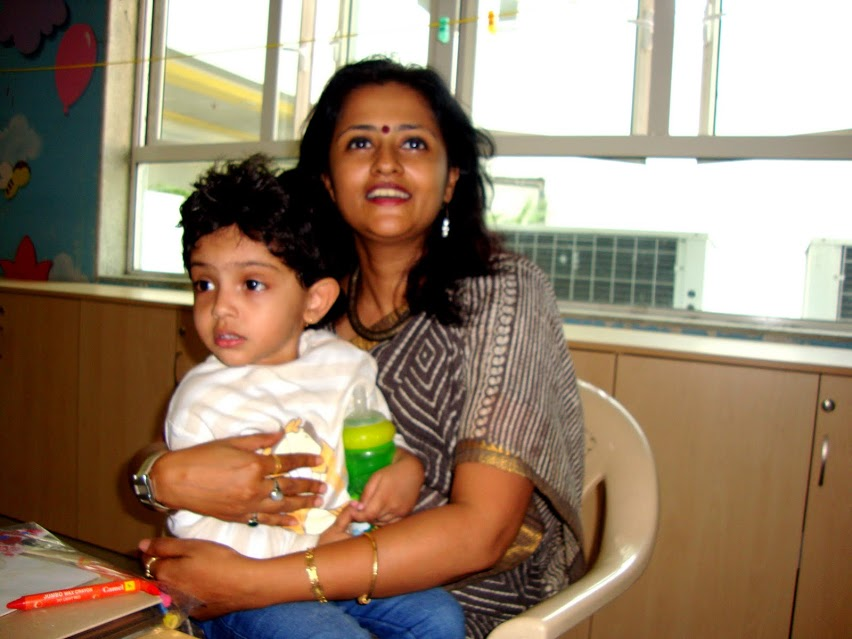 Koyali maam her class teacher at playgroup, one of her most favourite persons at school